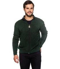 jaqueta officina do tricô bahamas verde
