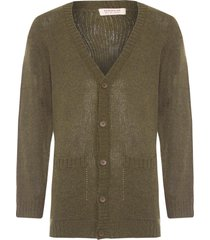 cardigan masculino unplugged e-fabric - verde