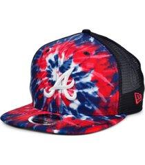 new era atlanta braves tie dye mesh back 9fifty cap