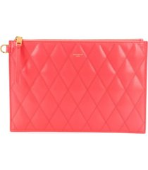 givenchy small gv3 quilted pouch - pink
