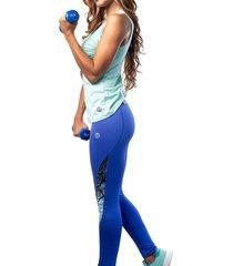 leggings dama azul rey mia b-7803