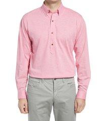 men's alton lane harris tailored fit popover shirt, size medium - pink