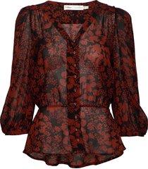 florizzaiw blouse blouse lange mouwen rood inwear