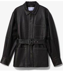 proenza schouler white label leather belted jacket black 8
