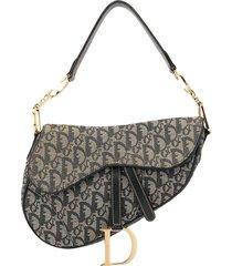 christian dior pre-owned trotter pattern saddle shoulder bag -