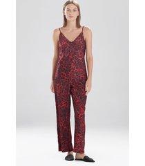 natori cheetah cami pajamas set, lingerie, women's, red, size m natori