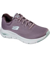 zapatilla morado arch fit big appeal skechers
