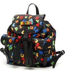 moschino magnets print backpack