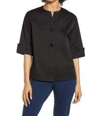 women's ming wang high-low jacket, size large - black