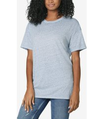 ultra flirt juniors' oversized crew-neck t-shirt