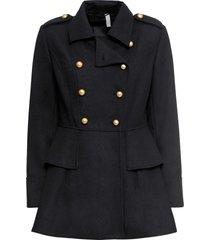 cappotto corto stile militare in misto lana (nero) - bodyflirt boutique