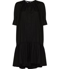 chloé cotton poplin mini dress - black
