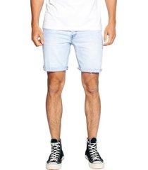 men's ziggy denim straight up shorts, size 36 - blue