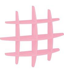 prateleira decorativa média taylor 598 rosa cristal - maxima
