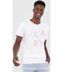 camiseta aleatory casual branco - branco - masculino - dafiti