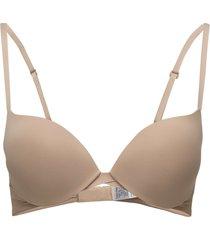 plunge push up lingerie bras & tops push-up bra beige calvin klein