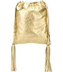 attico tassel drawstring bag - gold