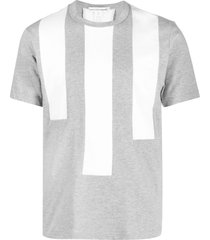 comme des garçons shirt vertical stripe-print cotton t-shirt - grey
