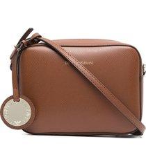 emporio armani logo-charm crossbody bag - brown