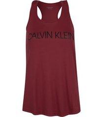 camiseta regata calvin klein logo - feminina - vinho