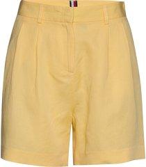 linen tencel short bermudashorts shorts geel tommy hilfiger