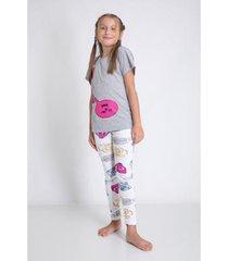 conjunto de pijama infantil acuo longa estampado alô alô! feminino