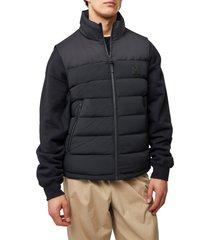 men's mackage bobbie water repellent quilted down vest, size 42 - black