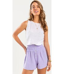 averie button front shorts - lavender