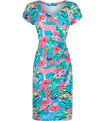 lien & giel jurk ba zebra turquoise blauw