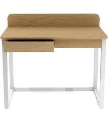 biurko drewno, sklejka/fornir, 2 szuflady - b-des8