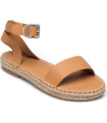 anf womens accessories sandaletter expadrilles låga brun abercrombie & fitch