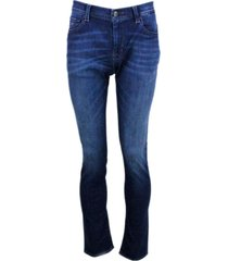 sartoria tramarossa leonardo stretch selvedge denim trousers with 5 pockets with tailored stitching