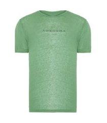 t-shirt masculina coordenadas noronha - verde