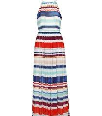 vestido multicolor tommy hilfiger agatha chiffon maxi dress