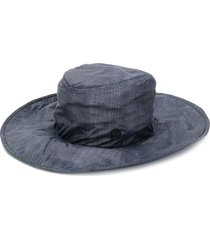 maison michel lauren denim-effect fedora hat - blue