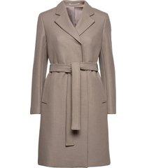 kaya coat wollen jas lange jas grijs filippa k