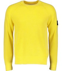 calvin klein sweater - slim fit - geel