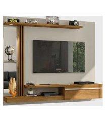 painel denver para tvs até 55 pol. led elétrico off-white/cinamomo móveis bechara