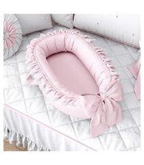 ninho bebê redutor berço menina rosa algodão grão de gente rosa