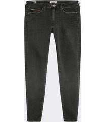 jeans skinny rise high negro tommy jeans