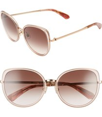 women's kate spade new york jensen 57mm gradient sunglasses - pink/ brown