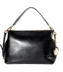 bolsa black feminina hobo luz da lua em couro com chaveiro