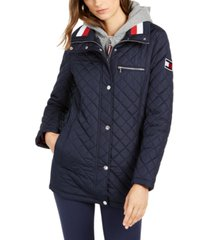tommy hilfiger hoodie quilted coat