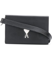 ami paris mini crossbody bag - black