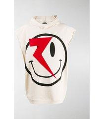 raf simons oversized face print sweatshirt
