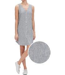 vestido sin mangas rayado azul gap