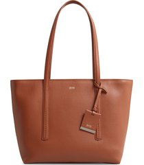 boss taylor small leather shopper - brown
