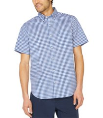 nautica men's big & tall navtech performance stretch plaid short sleeve shirt