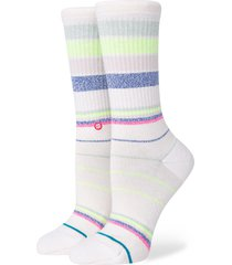 women's stance happy thoughts crew socks, size small - ivory