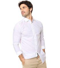 camisa blanca calvin klein witman basic stretch